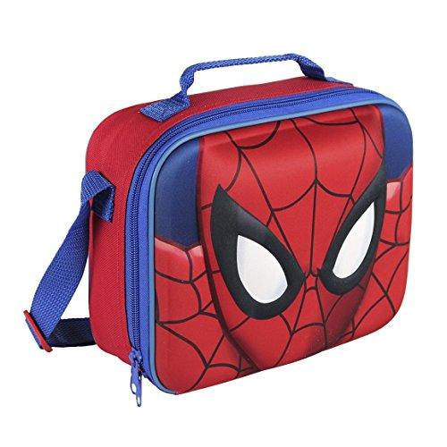 Marvel, 2100001617,spiderman, borsa termica 3d per il pranzo