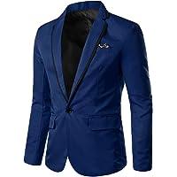 Blazer Men's Stylish Casual Solid Blazer Business Wedding Party Outwear Coat Suit Faux Jacket Tops