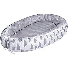 LULANDO multifunktionales Babynest Kuschelnest Babynestchen (80 x 45 cm). Weiches und sicheres Baby-Reisebett Babybett Nestchen für Neugeborene.