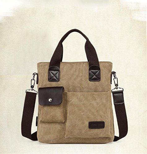 Wmshpeds Tela di sacco maschio borsa a tracolla casual messenger bag borsetta A