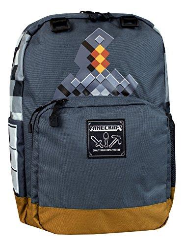 Minecraft - Children's Backpack - Minecraft Sword, Gray, One Size