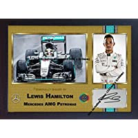 Lewis Hamilton Autogramm Kuriositäten Mercedes AMG Formel 1Petronas # 009