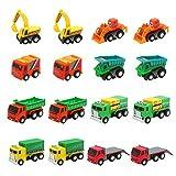 Coches de Juguetes Niños Mini Vehiculos Infantiles Camion 16 Pcs...