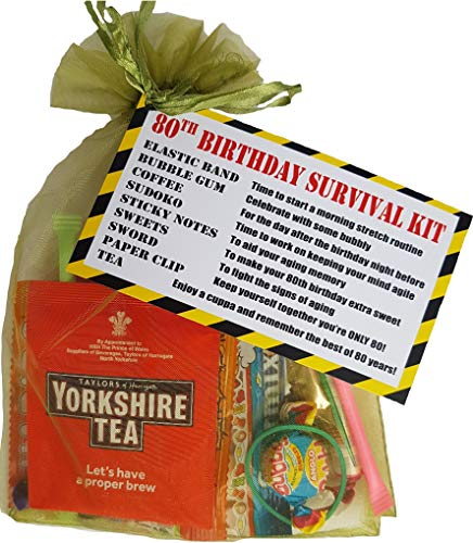 80. Geburtstag Survival Kit Ein Dinky Geschenk/Geschenk –, eine Fun Freche Geschenk, Sie lächeln