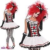 Disfraz de Arlequín para mujer en varias tallas para Halloween