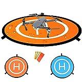 Bystep RC Drone Quadcopter Elicottero Landing Pad Protezione a sfioramento rapido del Drone per accessori DJI Mavic Pro, pieghevole impermeabile D75cm Pad per atterraggio per elicotteri telecomando Air Base Quadoptopper