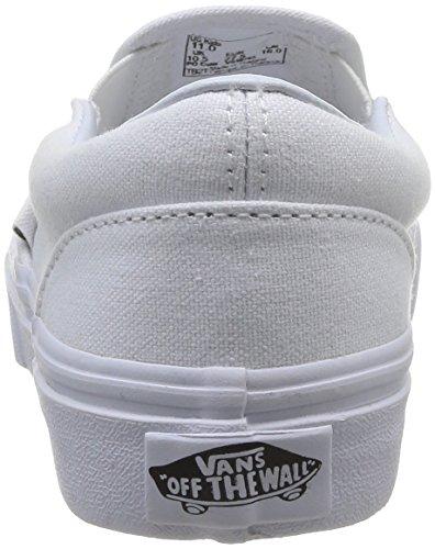 Vans Kids Classic Slip-on Baskets Mode Mixte Enfant Blanc (True Wht)