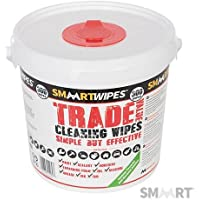 Trade Value Cleaning Wipes 300pk 300pk Simple but effective cleaning wipes for hands, tools and general surfaces around the home, workshop and garden. Removes paint, tar, ink, dirt, grime and pet mess. Easily removes grease and oil. Independently tested anti-bacterial action to BS EN 1276:2009. Gentle to skin - contains aloe vera.