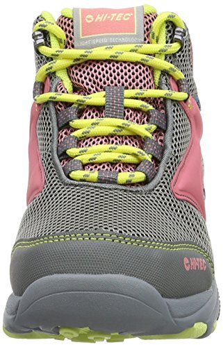Hi-Tec - Fast Hike Junior Waterproof, Scarpe da arrampicata Bambina Grigio (Grey/blossom/candy 051)