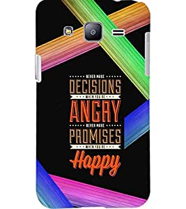 PrintDhaba QUOTE D-6973 Back Case Cover for SAMSUNG GALAXY J2 (Multi-Coloured)