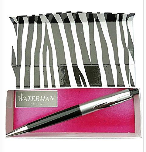 waterman-reflex-chrome-and-black-ballpoint-rare-limited-pen-brand-new