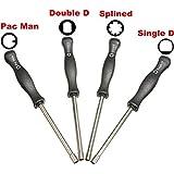 Novena ciudad 4 piezas herramienta Pacman/carburador en D/D doble/Spline cotapelos cortacésped destornillador para pequeño motor 2 tiempos