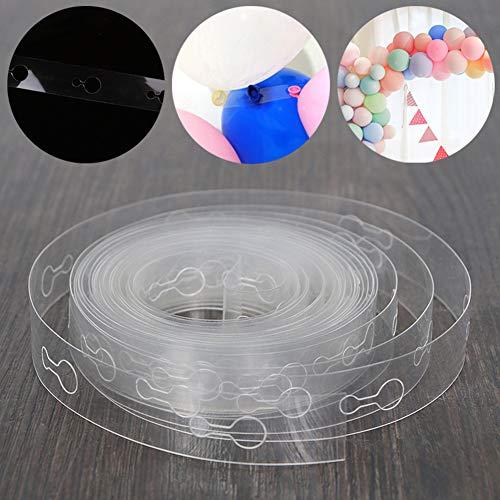 xMxDESiZ Luftballon-Kette, 5 m, Bogenverbindung, für Hochzeit, Geburtstag, Weihnachten, Party, Dekoration