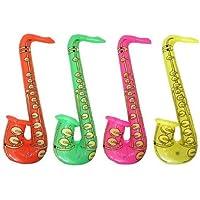 Hen and Stag X99 110 - Juego de 4 4 saxofones inflables, varios colores