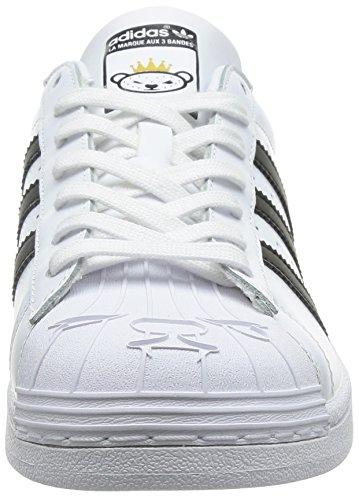 adidas Originals Superstar Nigo Bearfoot Unisex-Erwachsene Low-Top Weiß (Ftwr White/Core Black/Ftwr White)
