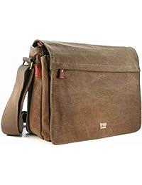 Troop London Unisex Leinen Laptop Messenger Tasche (TRP0240)