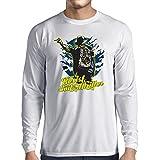 T-Shirt Manches Longues Homme vêtements de bande vintage, marchandise de concert des années 80 (X-Large Blanc Multicolore)