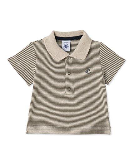 Jungen Polo Shirt Gestreift (Petit Bateau Baby-Jungen Poloshirt Polo MC_24594, Mehrfarbig (Litop/Lait 44), 80 (Herstellergröße: 12m/74cm))