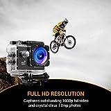 Action Cam, icefox 2K 16MP Unterwasserkamera, WIFI Fernbedienung, 2.0 Display Helmkamera, Wasserdicht Sport Action Kamera mit 2 Akku und kostenloses Zubehör  Vergleich