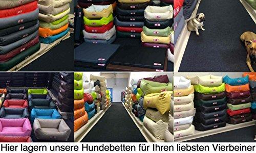 "Hundekissen, Hundebett, Hundesofa, Hundekorb, Kunstleder ""BASIC"" (Hellgrau/Türkis, XL – 120x90x18cm Liegefläche : 95x65cm) - 5"