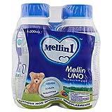 Mellin Latte Uno - Dalla Nascita al 6° Mese, 500 ml, Confezione da 4 bottiglie