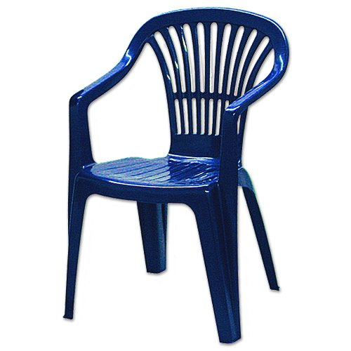 Ipae Altea stapelbar Low Back Sessel, blau, 56 x 54 x 80 cm