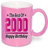 Pink Metallic Effekt Tasse zum Geburtstag 18 Jahre