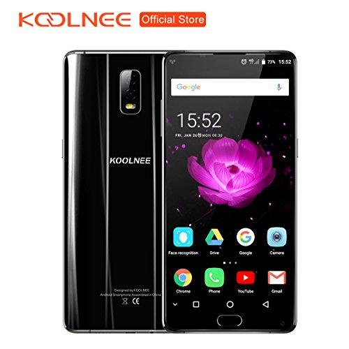 Preisvergleich Produktbild KOOLNEE K1 Randloses 4G Smartphone 6GB RAM+128GB ROM 6.01 Zoll FHD+ Android 7.1 Helio P23 Octa Core 2.0GHz 16.0MP+2.0MP Dual Rückkamera, Dual Sim Dual Standby, Großer Akku mit 4200mAh Fingerabdrucksensor - Schwarz (2018 Pro Version)