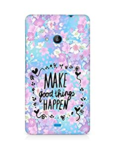 AMEZ make good things happen Back Cover For Microsoft Lumia 535