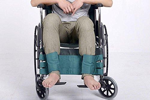 GxNI Bein-Rollstuhl-Sicherheitsgurt für Roller oder Rollstuhl, mit dem Klettverschluss, der lose justiert wird, verhindern Patienten von kämpfendem medizinischem Rückhalteband, grün (Rollstuhl-beine)