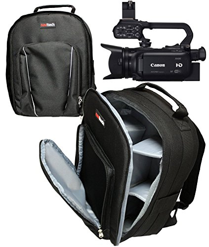 Navitech robuste transport noir sac à dos / sac à dos / cas pour JVC GY-HM200E 4KCAM Live Streaming Camcorder