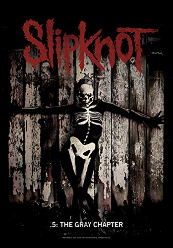 Heart Rock Licensed Bandiera Slipknot - The Gray Chapter, Tessuto, Multicolore, 110X75X0,1 cm