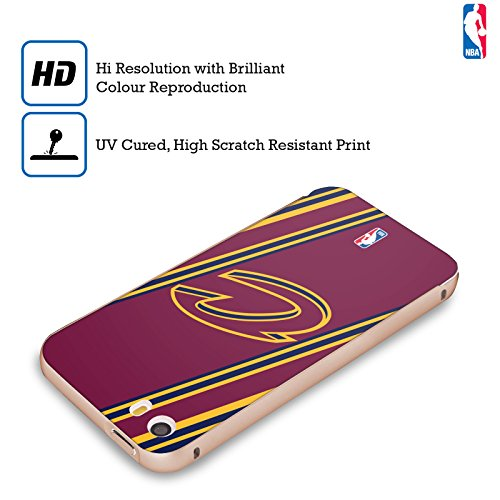 Ufficiale NBA Marmo B&N Cleveland Cavaliers Oro Cover Contorno con Bumper in Alluminio per Apple iPhone 5 / 5s / SE Righe