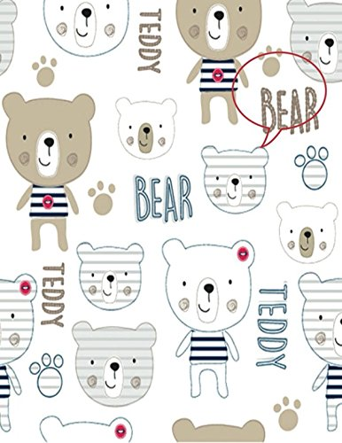 Teddy Bear: Teddy Bear Lined Exercise Journal with 150 Pages To Write Draw Sketch For Boys Girls Teens And Student (Children's Collections, Band 9)