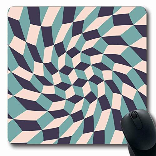 Mousepads Teppich Blau Boho Moderne Geometrie Muster Polygon Abstrakte Farbe Kontrast Kreative Würfel Design Längliche Form Rutschfeste Gaming Mouse Pad Gummi Längliche Matte,Gummimatte 11,8