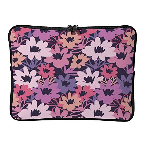 a783519c41bb DKISEE Vintage Flower Seamless Pattern Laptop Sleeve Case Bag Cover  Compatible 15 Inches Notebook MacBook Air MacBook Pro