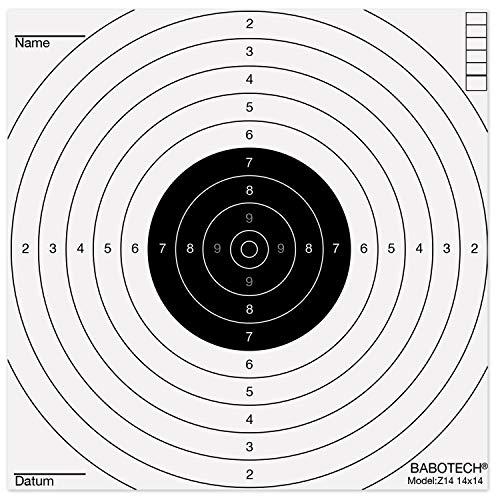 Babotech Luftgewehr Zielscheiben 14x14cm für Pistole Luftgewehr Airsoft [ Target Zielscheibe für Kugelfang ] (Made in Germany) - 1000er Pack