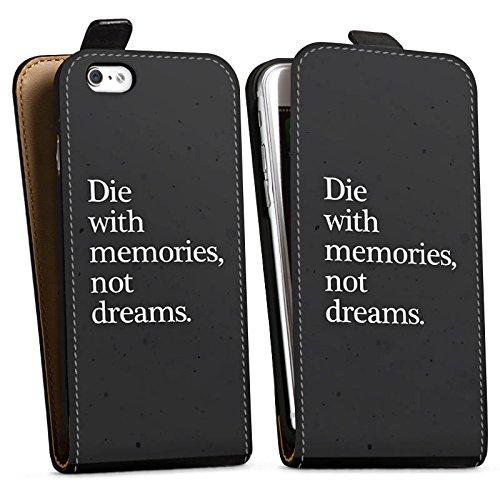 Apple iPhone X Silikon Hülle Case Schutzhülle Träume Erinnerung Traum Downflip Tasche schwarz