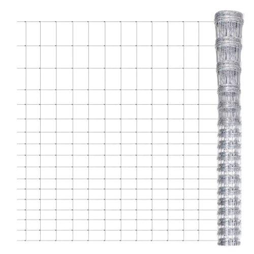 Weilandeal Clôture de jardin en treillis de clôture en fer galvanisé 50 m 200/17/15 m