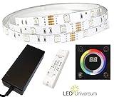 9 Meter RGB LED Streifen (30 LED/m, IP20, 12V) mit Unterputz Touchpanel, Funkcontroller und Netzteil