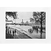 Archivio Foto Locchi Firenze – Stampa Fine Art su passepartout 70x50cm. – Immagine di un auto alle Mille Miglia con panorama di Firenze negli anni '30