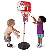 Bestie Toys Basketball Hoop Stand Toy Set For Kids Adjustable Height Up To 5 Ft