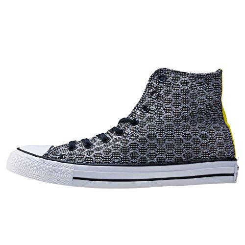 Converse Herren All Star Hi Black/White/Fresh Yellow Schwarz