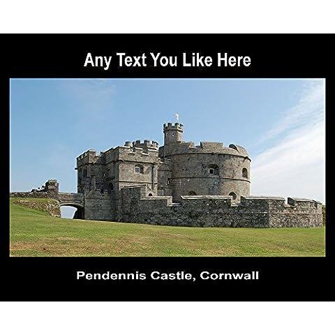 Castello di Inghilterra Pendennis Cornovaglia del Regno Unito Tappetino per (Castello Pendennis)