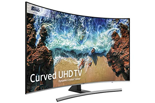 Samsung UE65NU8500 65-Inch Curved Dynamic Crystal Colour 4K Ultra HD Certified HDR 1000 Smart TV - Black/Silver (2018 Model) [Energy Class A+]