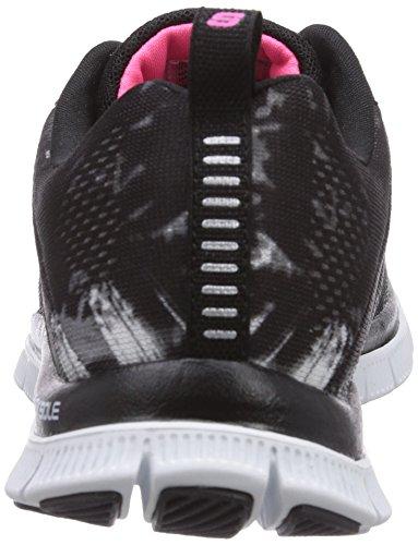 Skechers Flex Appealtrade Winds, Chaussons Sneaker Femme Noir (Bkhp)