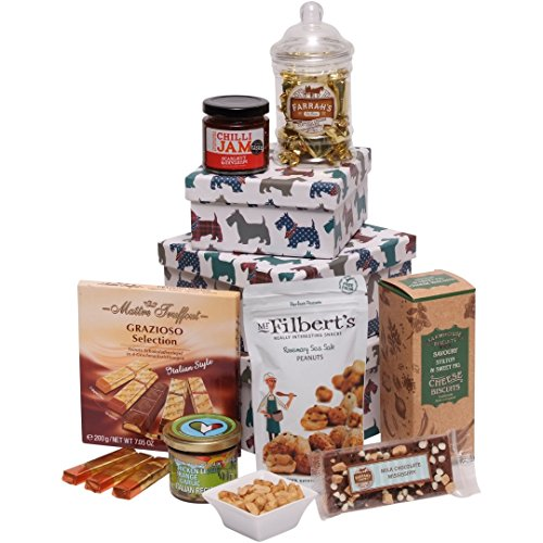 Tower Box of Treats - The Perfect Gift Hamper To Say Thank You, Happy Birthday or Merry Christmas