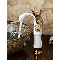 XMQC*Ceramica contemporanea della forma del corpo Bagno Swan lavabo (Alta) - Oro+White