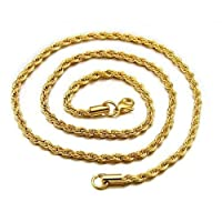 Gold Plating Twist Chains Necklace For Women Men Jewelry Gift