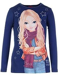 Filles Top Model Shirt, bleu foncé